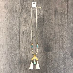 Lucky Brand Tassel Woman's statement necklace